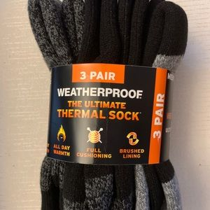 Men's Weatherproof thermal crew sock 3 pack